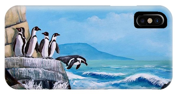 Pinguinos De Humboldt IPhone Case