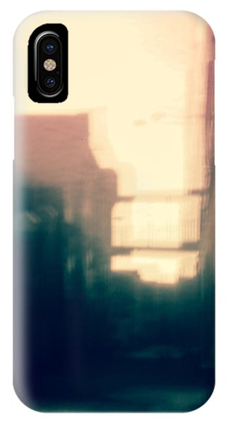 Pinholed Cityscape  IPhone Case