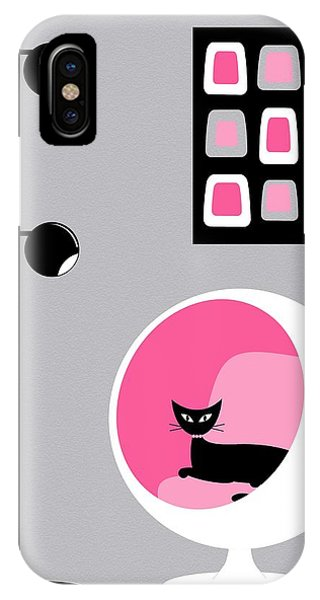 Pink 1 On Gray IPhone Case