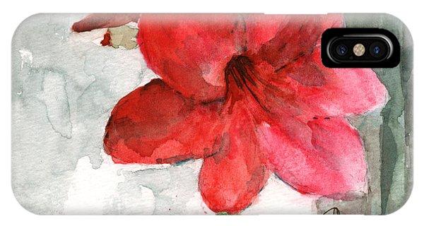 Amaryllis iPhone Case - Pink Amaryllis by Claudia Hafner