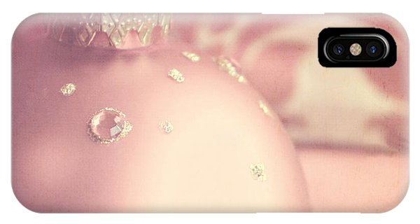 Pink And Gold Ornate Christmas Bauble IPhone Case