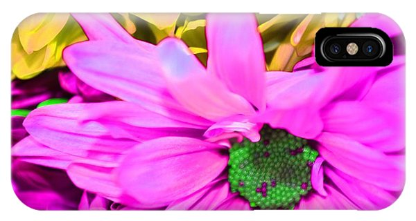 Pink And Green Flowers Phone Case by LLaura Burge