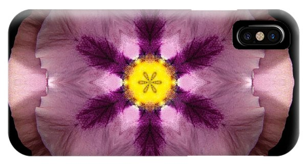 Pink And Purple Pansy Flower Mandala IPhone Case