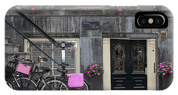 Pink Bikes Of Amsterdam IPhone Case
