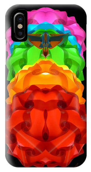 Pink Blue Green Yellow Orange Red - Electric Chrysalis  IPhone Case