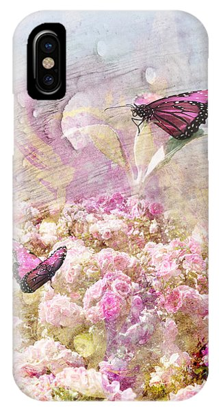 Pink Butterflies Phone Case by Juli Cromer