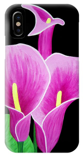 Pink Calla Lillies 2 IPhone Case