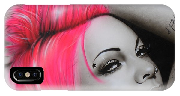 Neon iPhone Case - Pink by Christian Chapman Art