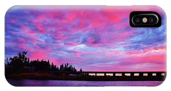 Pink Cloud Invasion Sunset IPhone Case