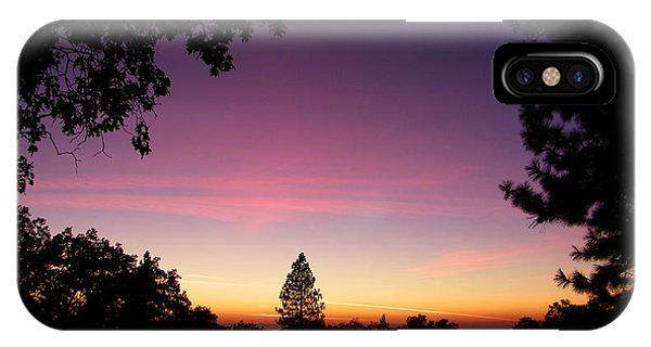Pink Contrails IPhone Case