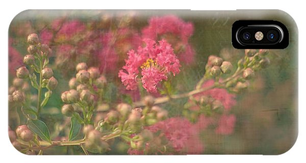 Pink Crepe Myrtle IPhone Case