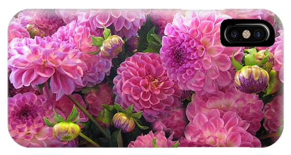 Pink Dahlia Bouquet IPhone Case