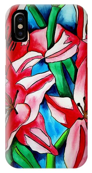 Pink Day Lilies Phone Case by Sacha Grossel