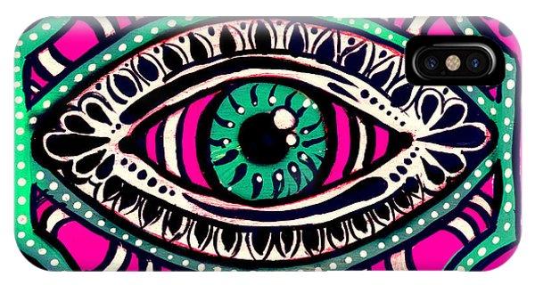 Pink Eyed Gypsi IPhone Case