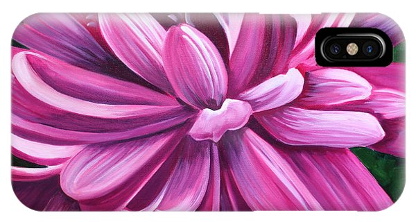 Pink Flower Fluff IPhone Case