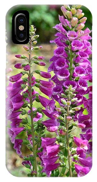 Pink Foxglove Flowers IPhone Case