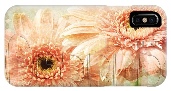 Close Up Floral iPhone Case - Pink Gerber Daisies 3 by Andee Design