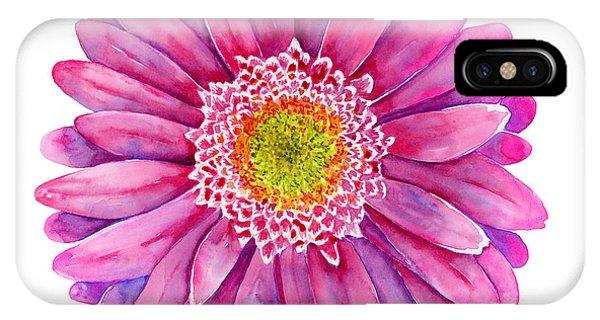 Pink Flower iPhone Case - Pink Gerbera Daisy by Amy Kirkpatrick