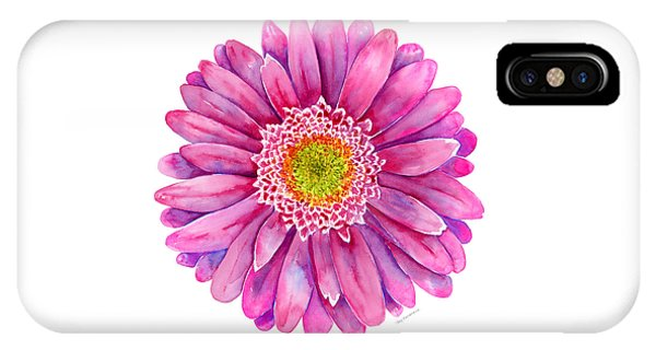 Pink iPhone Case - Pink Gerbera Daisy by Amy Kirkpatrick