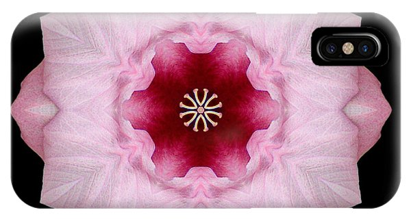 Pink Hibiscus I Flower Mandala IPhone Case