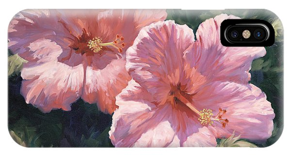 Hibiscus Flower iPhone Case - Pink Hibiscus by Laurie Snow Hein