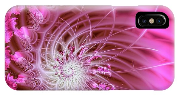 Feathers iPhone Case - Pink by Lena Auxier