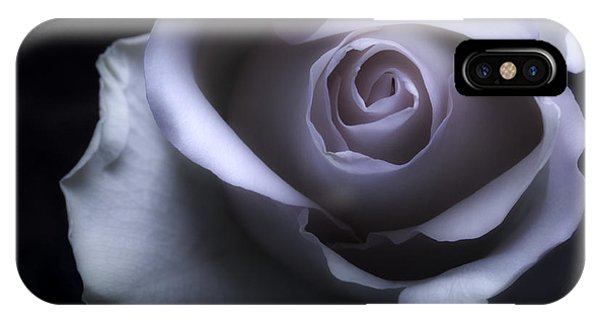 Black And White Rose Flower Macro Photography IPhone Case