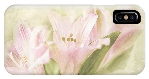 Pink Lilies IPhone Case