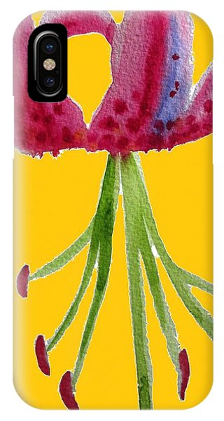 Pink Lily Pop Phone Case by Sacha Grossel