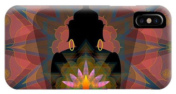 Pink Lotus Buddha IPhone Case