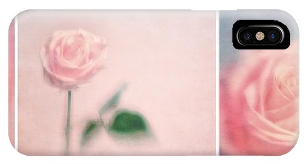 Rose iPhone X Case - Pink Moments by Priska Wettstein