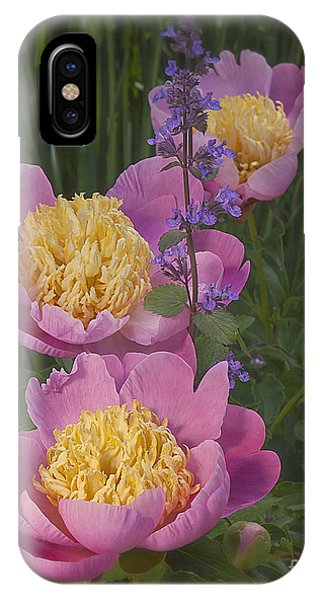 Pink Peonies In My Garden Phone Case by Ann Jacobson