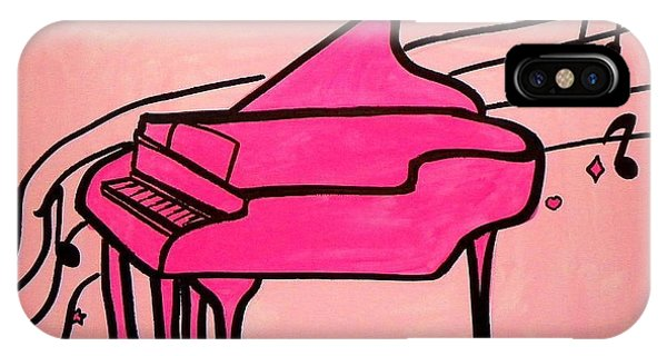 Pink Piano IPhone Case