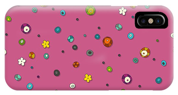 Pink Pop Flower Spot IPhone Case