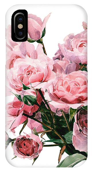 Pink Rose Bouquet IPhone Case