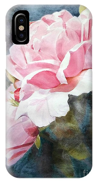 Pink Rose Caroline IPhone Case