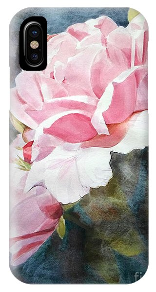 Pink Rose Caroline IPhone Case