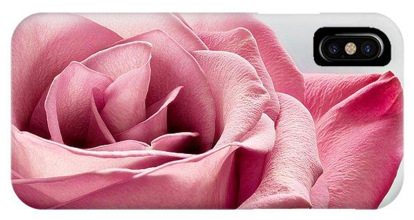 Pink Rose Macro IPhone Case