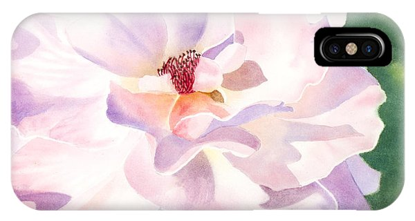 Pink Rose - Transparent Watercolor IPhone Case