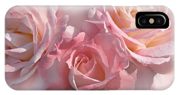 Pink Roses In The Mist IPhone Case