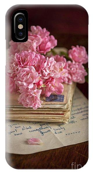 Pink Roses Vintage Envelopes And Love Letter IPhone Case