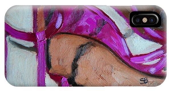 Samantha iPhone Case - Pink Sandles by Samantha Black