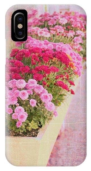 Pink Sidewalk Flowerbox IPhone Case