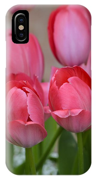 Pink Spring Tulips IPhone Case