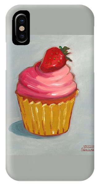 Pink Strawberry Cupcake IPhone Case