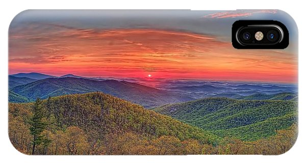 Pink Sunrise At Skyline Drive IPhone Case