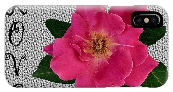 Pink Tea Rose Love IPhone Case