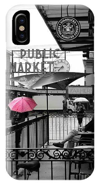 Pink Umbrella IPhone Case