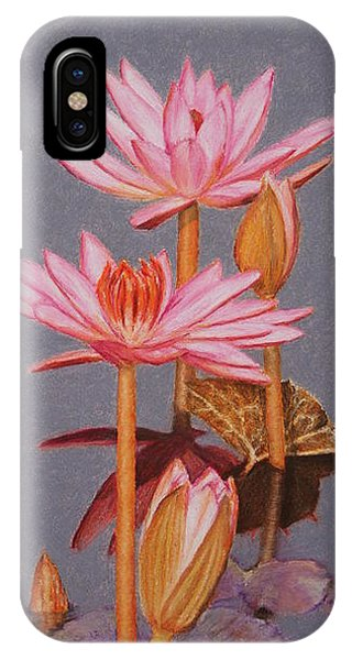 Pink Water Lilies IPhone Case