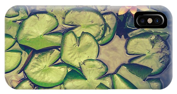 Aquatic Plants iPhone Case - Pink Water Lily And Pads by Mr Doomits